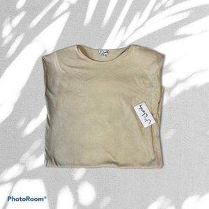 T SHIRT DRESS WITH PADDED SLEEVES sz mediium